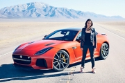Michelle Rodriguez din Fast and Furious conduce noul Jaguar F-TYPE SVR la viteză maximă! (Video)