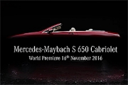 Noul Mercedes-Maybach S 650 Cabriolet va debuta la Los Angeles (Video)