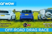 (VIDEO) Drag Race în off-road: Range Rover Sport SVR vs Porsche Cayenne Turbo vs Mercedes-AMG G63