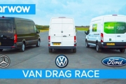 Drag Race: Mercedes-Benz Sprinter vs Volkswagen Crafter vs Ford Transit
