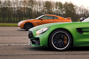 Care e mai rapid în drag racing: Mercedes-AMG GT R sau Nissan GT-R? (Video)