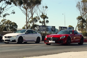 Drag Racing: BMW M4 DTM Champion Edition vs. Mercedes-AMG GT R! (Video)