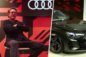 Video: Robert Downey Jr. testează noul Audi e-tron GT!