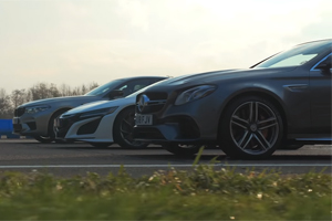 (VIDEO) BMW M5 Competition, Honda NSX și Mercedes-AMG E 63 S 4MATIC+ puse la încercare de Top Gear într-un drag racing
