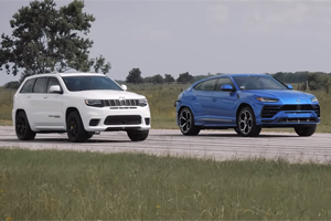 (VIDEO) Jeep poate umili un Lamborghini? Drag test: Grand Cherokee VS Urus