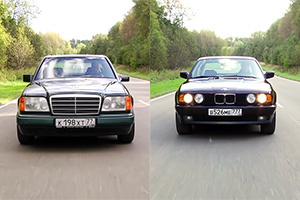 (VIDEO) Clasicele BMW Seria 5 E34 vs. Mercedes-Benz E-Class W124, comparate într-un review modern