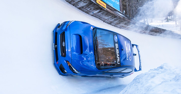 Subaru WRX STI s-a transformat în bobsleigh! (Video)