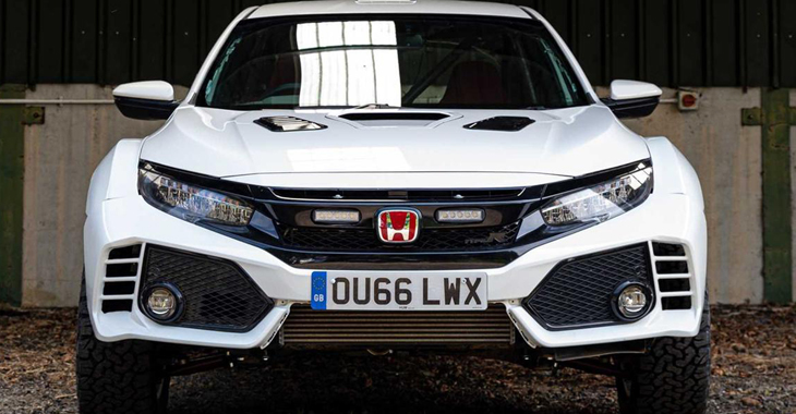 Tunerii britanici au transformat hot-hatch-ul nipon Honda Civic Type R într-un bolid de rally