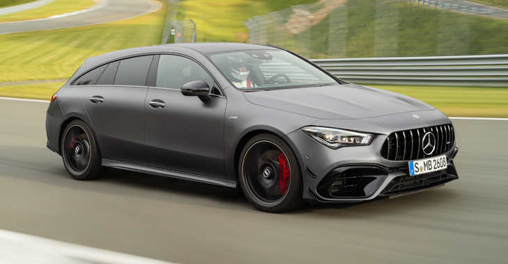 Premieră mondială: versiunea de performanță Mercedes-AMG CLA 45 Shooting Brake 4MATIC+