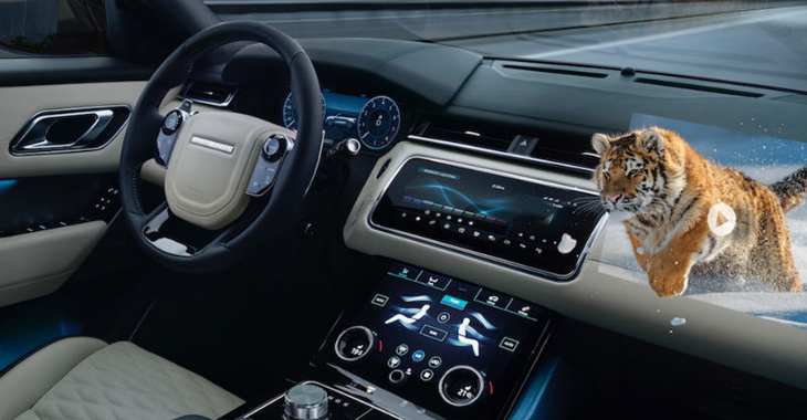Jaguar Land Rover pregătește un head-up display sofisticat și sistem multimedia cu afișaje 3D