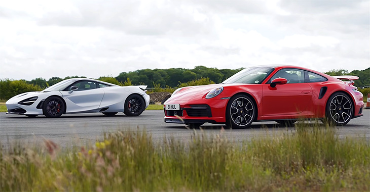 (VIDEO) Porsche 911 Turbo l-a umilit pe supercar-ul britanic McLaren 720S într-un drag race