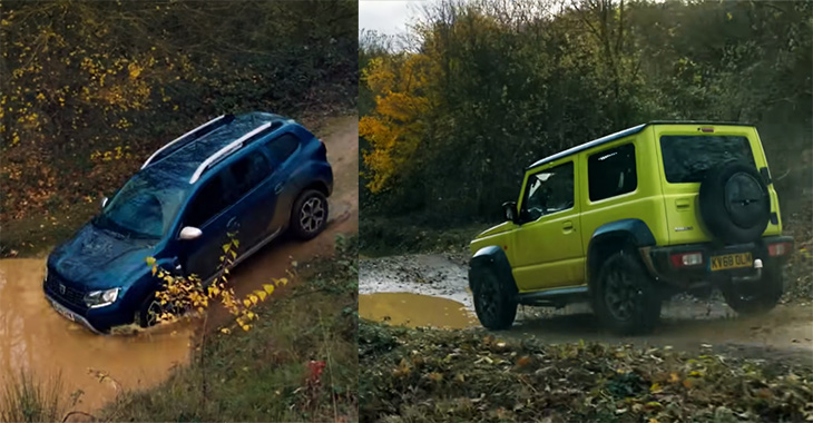 (VIDEO) Care e mai rapid în offroad: Dacia Duster sau Suzuki Jimny?